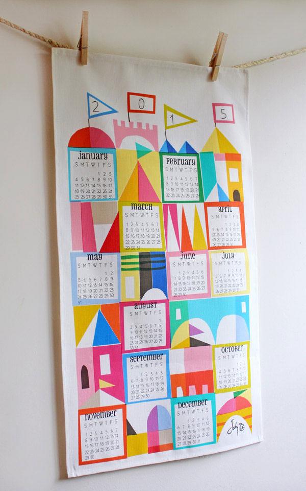Satsuma Street 2015 Tea Towel Calendar