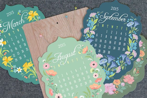 Sheri McCulley 2015 Flower-of-the-Month Calendar