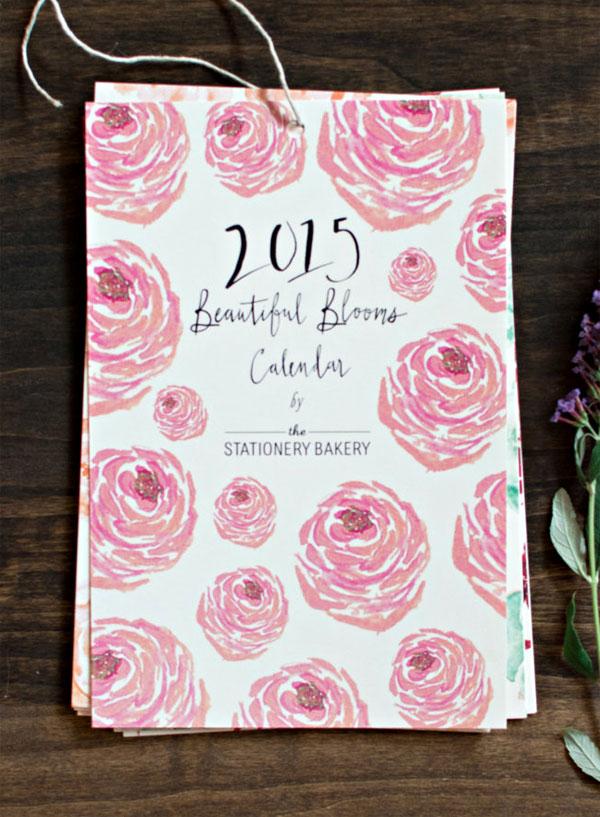 Stationery Bakery 2015 BotanicaL Calendar