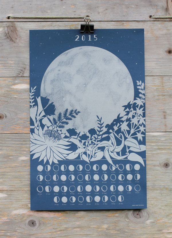 The Far Woods 2015 Lunar Calendar