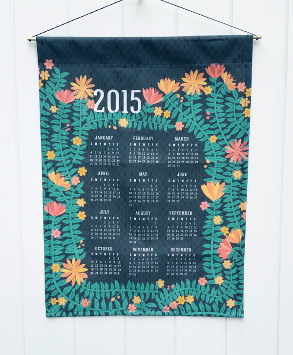 Wild Notions 2015 Tea Towel Calendar