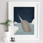 Narwhal Art Print | A Grape Design