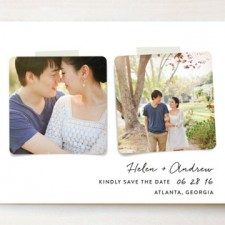 Two Become One Save the Date Cards