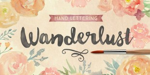 Wanderlust Font by Cultivated Mind