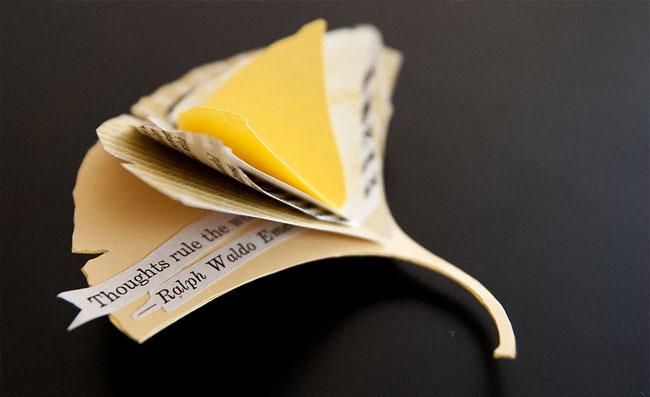 Gingko Leaf Miniature Book | Janet Guertin