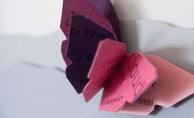 Butterfly Miniature Book Detail | Janet Guertin