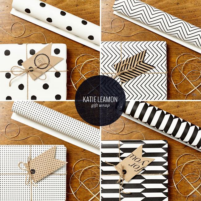 Modern Geometric Gift Wrap | Katie Leamon