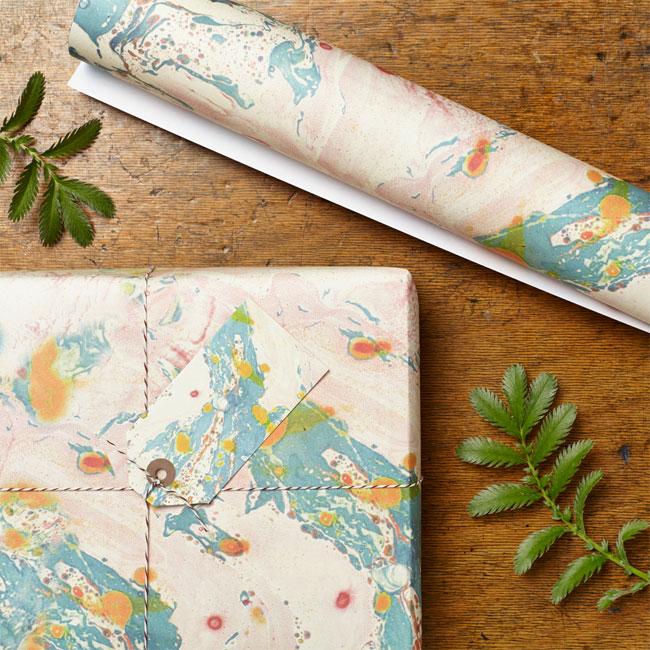Caspian Marbled Gift Wrap | Katie Leamon