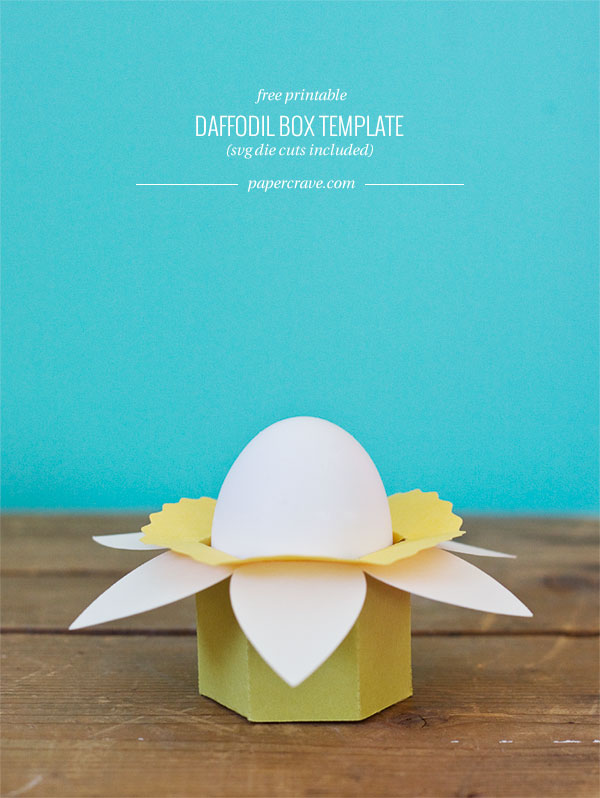DIY Daffodil Cups (free printable PDF + SVG die cuts included)