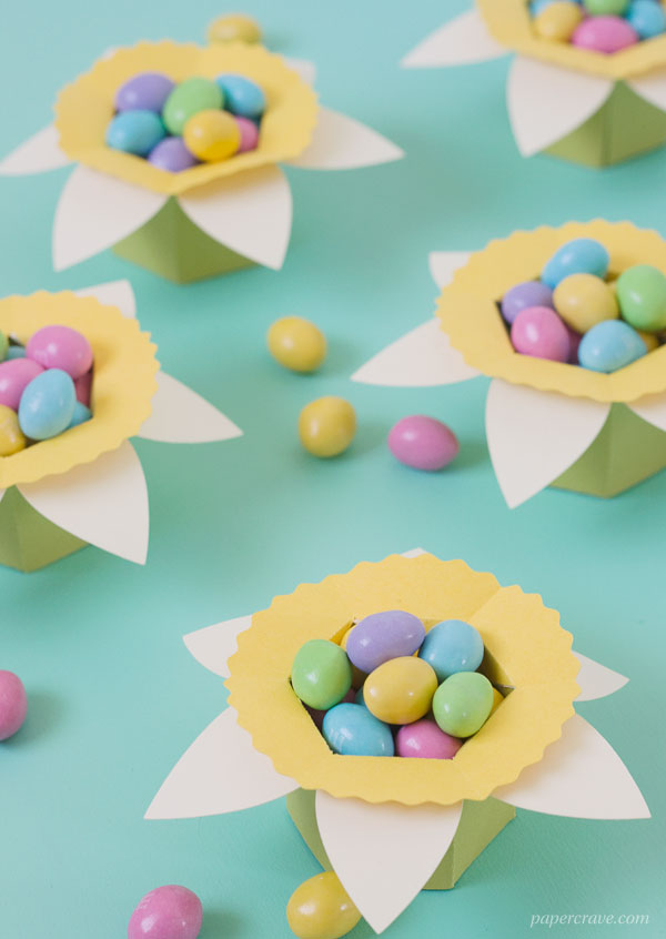 DIY Daffodil Egg & Candy Cups (free printable PDF + SVG cut files included)