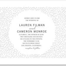 Modern Pattern Letterpress Wedding Invitations by Stacey Day