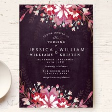 Bold Floral Wedding Invitations by Phrosne Ras