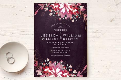 Bold floral wedding invitations by phrosne ras