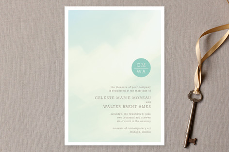 Ethereal Sky Wedding Invitations by Jody Wody