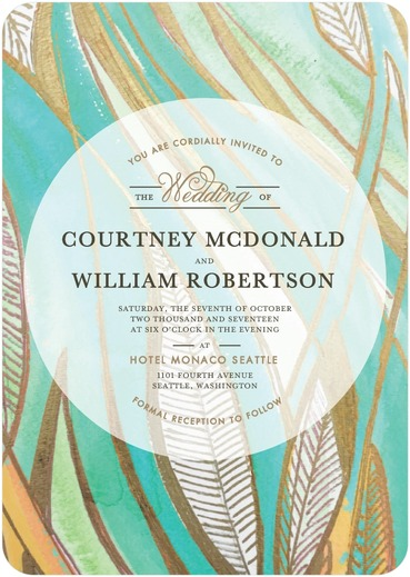 Bold Floral Wedding Invitations by Mindy Weiss