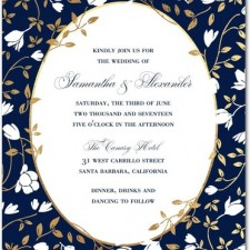 Modern Floral Frame Wedding Invitations by Mindy Weiss