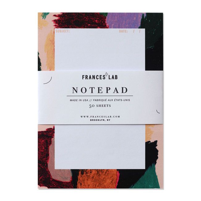 Oil Pastel Abstract Modern Notepad | Frances Lab