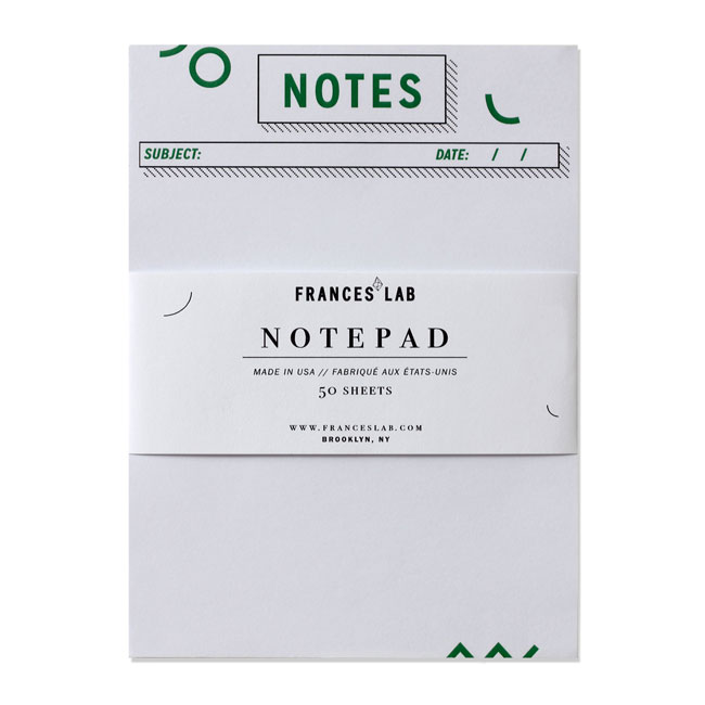 Gamut Modern Notepad | Frances Lab