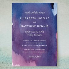 Mulberry Watercolor Wedding Invitations by Lindsay Megahed