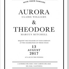 Classic Black & White Frame Wedding Invites by Magnolia Press