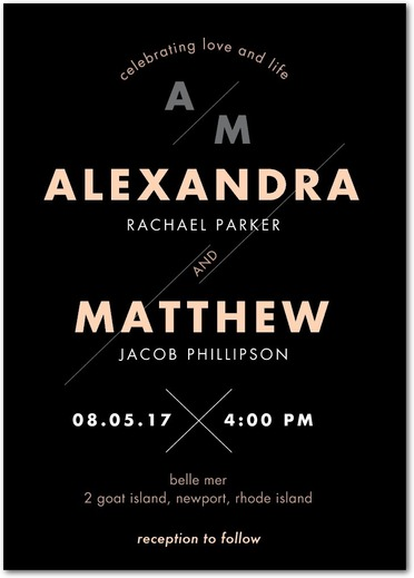 Mid-Century Modern Wedding Invitations by Petite Alma