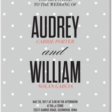 Simple Dotted Wedding Invites by Eleanor Grosch