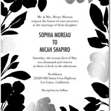 Floral Foil Stamped Wedding Invitations by Papier Fabrik