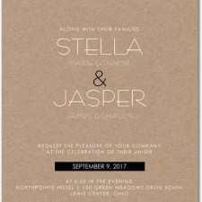 Modern Kraft Wedding Invitations by Magnolia Press
