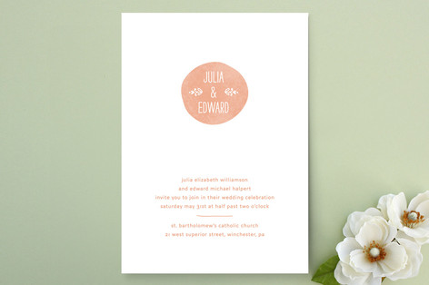 Sweet Stamp Wedding Invitations by Laura Hankins