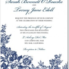 Toile Wedding Invitations by Pottery Barn