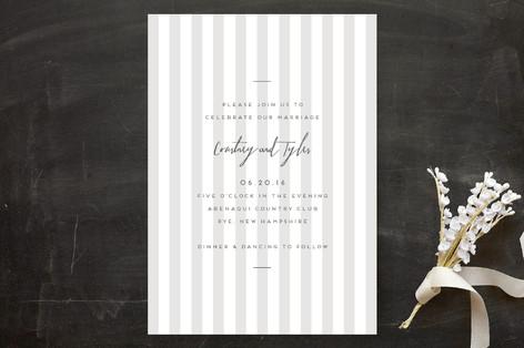 Modern Stripe Wedding Invitations by Paper Krush