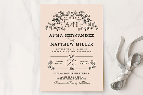 Floral Bouquet Wedding Invitations by Chris Griffith