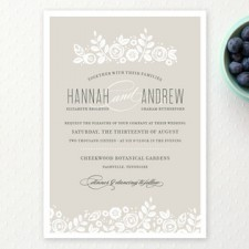 Floral Shadows Wedding Invitations by Jessica Williams