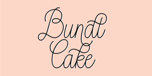 Bundt Cake Font by Up Up Creative