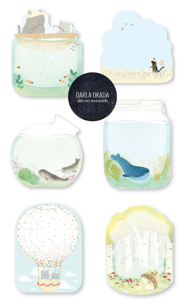Die Cut Notepads by Darla Okada for Madison Park Greetings