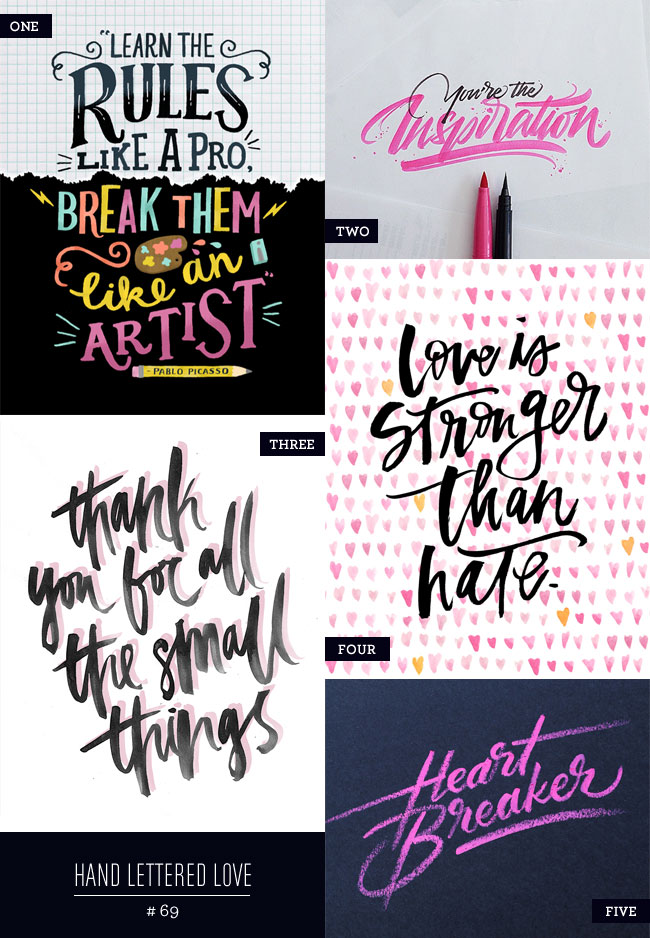 Hand Lettered Love #69