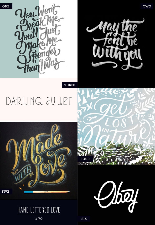Hand Lettered Love #70