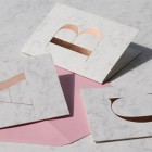 Marble & Foil Stamped Monogram Cards by Studio Sarah