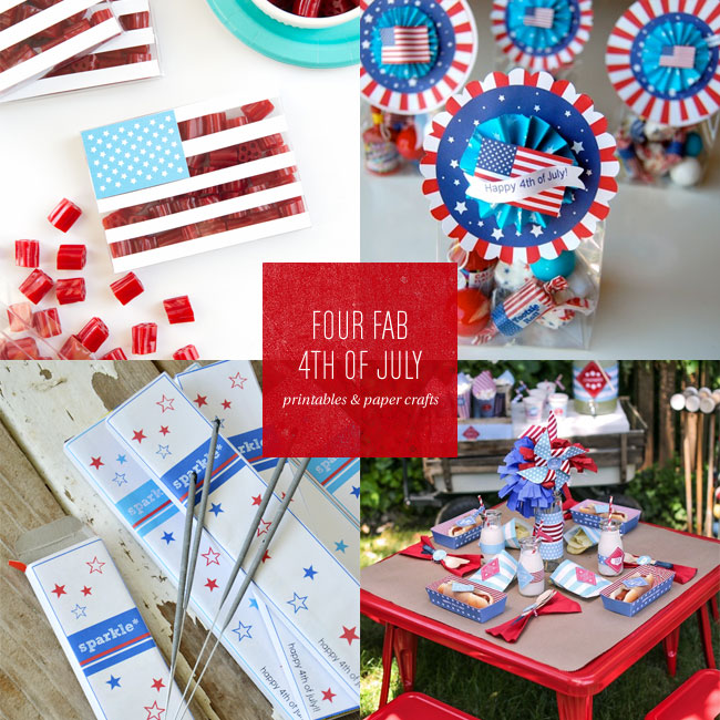 4th of July Free Printables & Paper Crafts