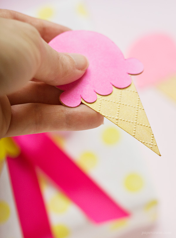 DIY Ice Cream Cone Gift Tags