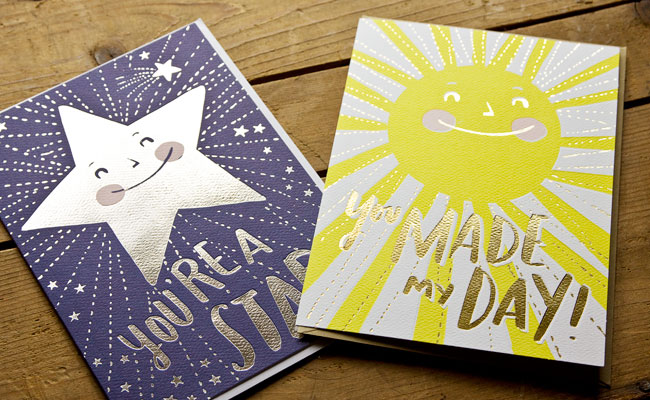 Hello! Lucky for Target Foil Stamped Cards