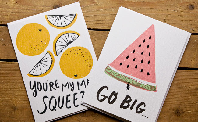Hello! Lucky for Target Hand Lettered Cards