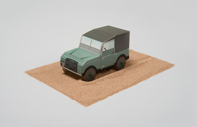 Land Rover Defender Mini Paper Model