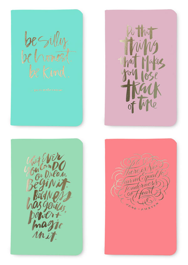 The Gold Foil Lettering Collection from May Designs