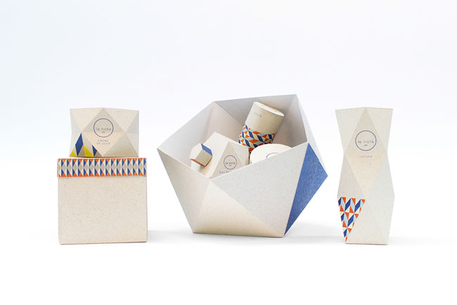 Origami-Inspired Cosmetics Packaging by Papier Tigre