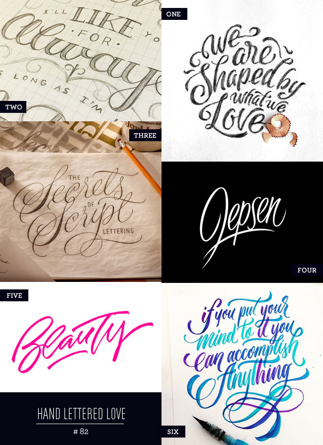 Hand Lettered Love #82