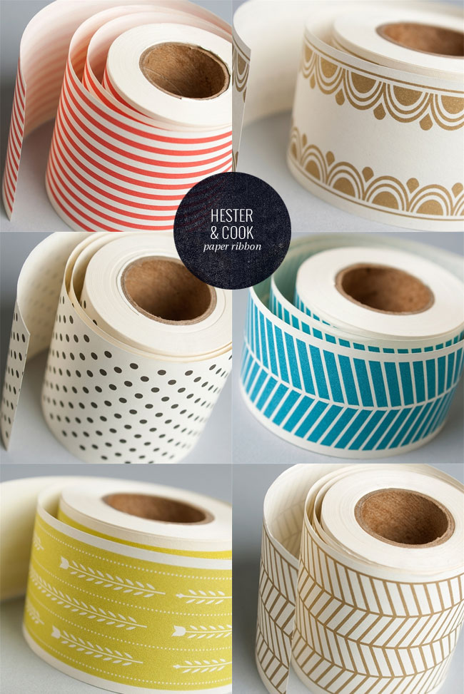 Pretty Paper Ribbon from Hester & Cook