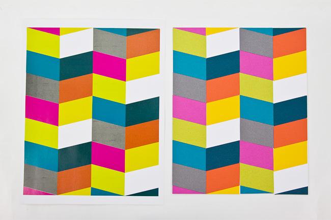 DIY Die Cut Wall Art : Finished Pattern