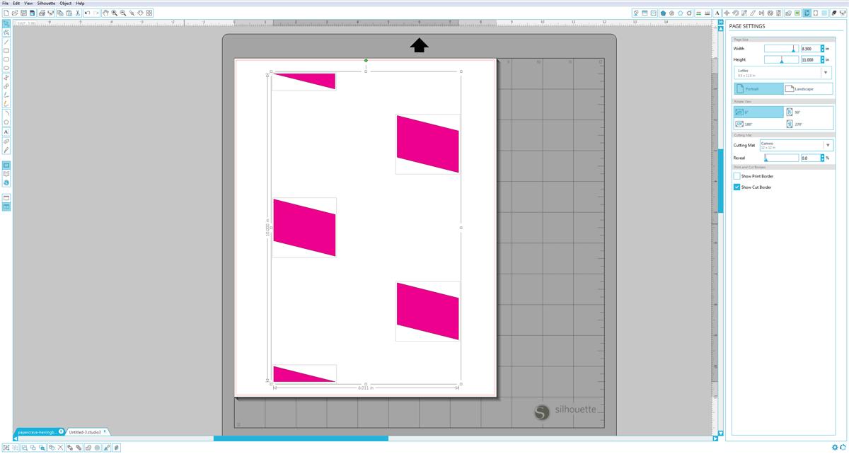 Silhouette Studio (Designer Edition) : Paste Shapes