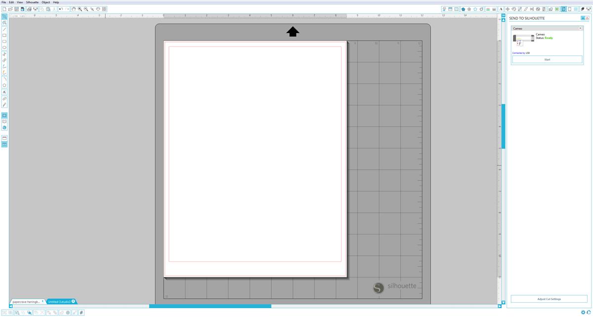 Silhouette Studio (Designer Edition) : Cut Base Shape